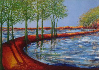 Spiegeling in meer